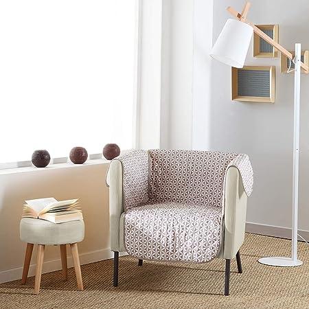 Douceur dInt/érieur 1605235 Prot/ège fauteuil matelass/é gris 165 x 179 cm