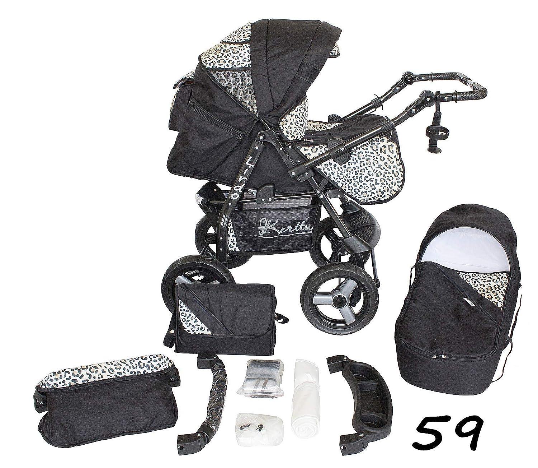 Light Brown 2in1 No Car Seat Lirdo Baby Pram 2 In 1 Travel System Mosquito Net
