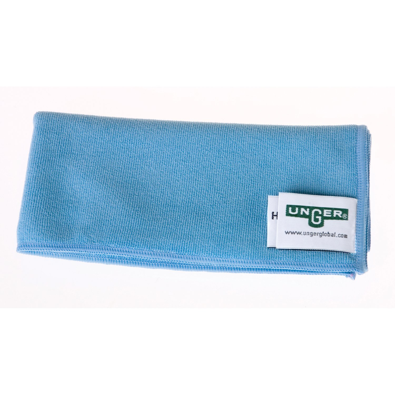Unger MB40B SmartColor MicroWipe Microfiber Cloth, 16'' Length x 16'' Width, Blue (Case of 10)