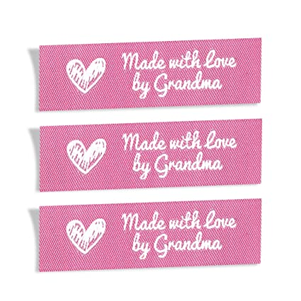 fc3076f6412e Wunderlabel Made with Love by Grandma Crafting Craft Art Fashion Woven  Ribbon Ribbons Tag Clothing Sewing Sew Clothes Garment Fabric Material ...