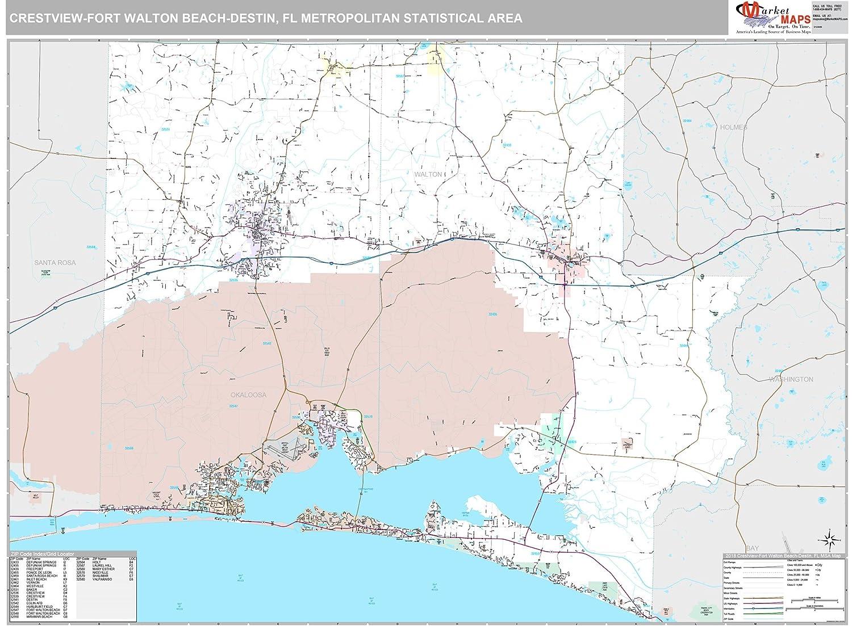 Amazon.com: MarketMAPS Crestview-Fort Walton Beach-Destin, FL Metro on