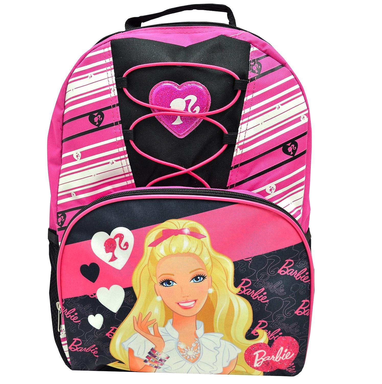 Barbie Deluxe Lace Girls Pink / Black Mochila escolar 16 pulgadas: Amazon.es: Juguetes y juegos