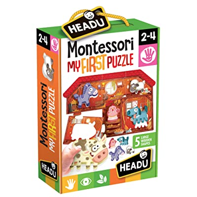 Headu it20140 – Montessori First Pieces Game The Farm: Toys & Games