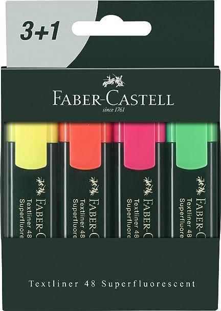 Faber 09254830 - Pack 3+1 marcadores flúor: Amazon.es: Oficina y ...