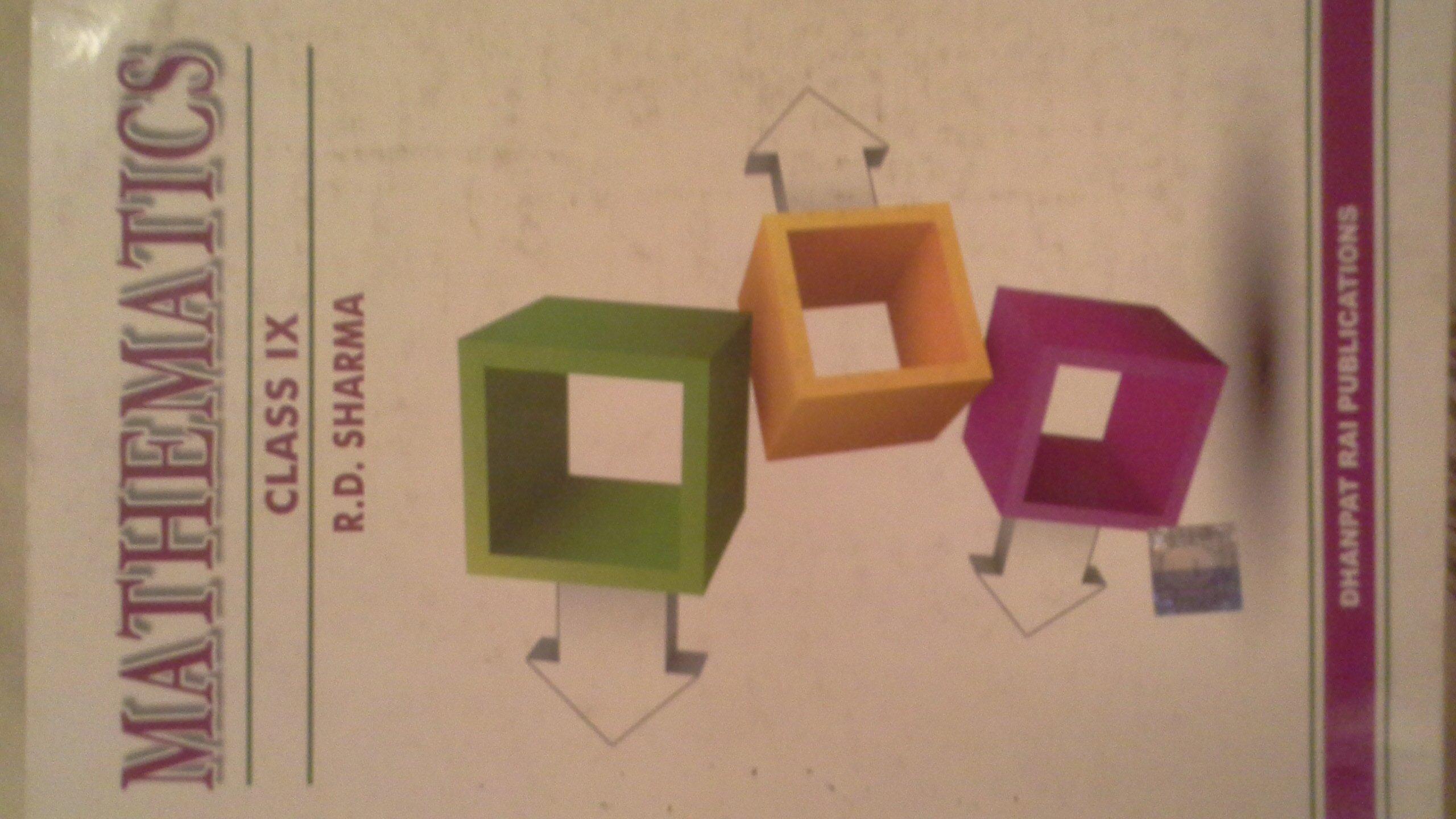Rd Sharma Class 9 Solution Book