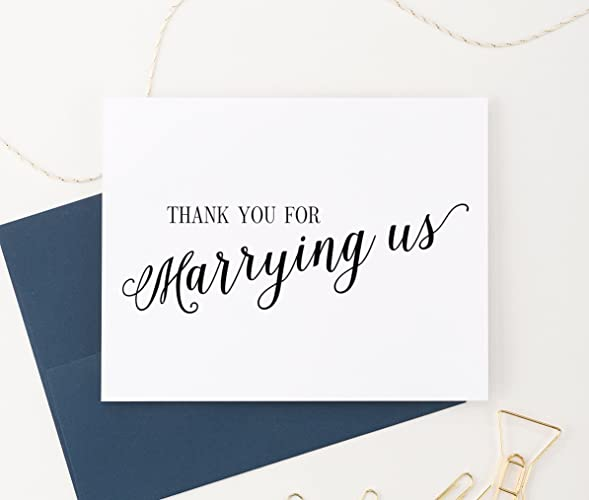 Amazon Com Thank You For Marrying Us Card Wedding Card To
