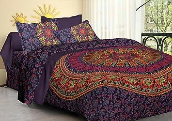 Bohemian-Wandteppich, Blumenmuster, für Schlafzimmer, indisches ...