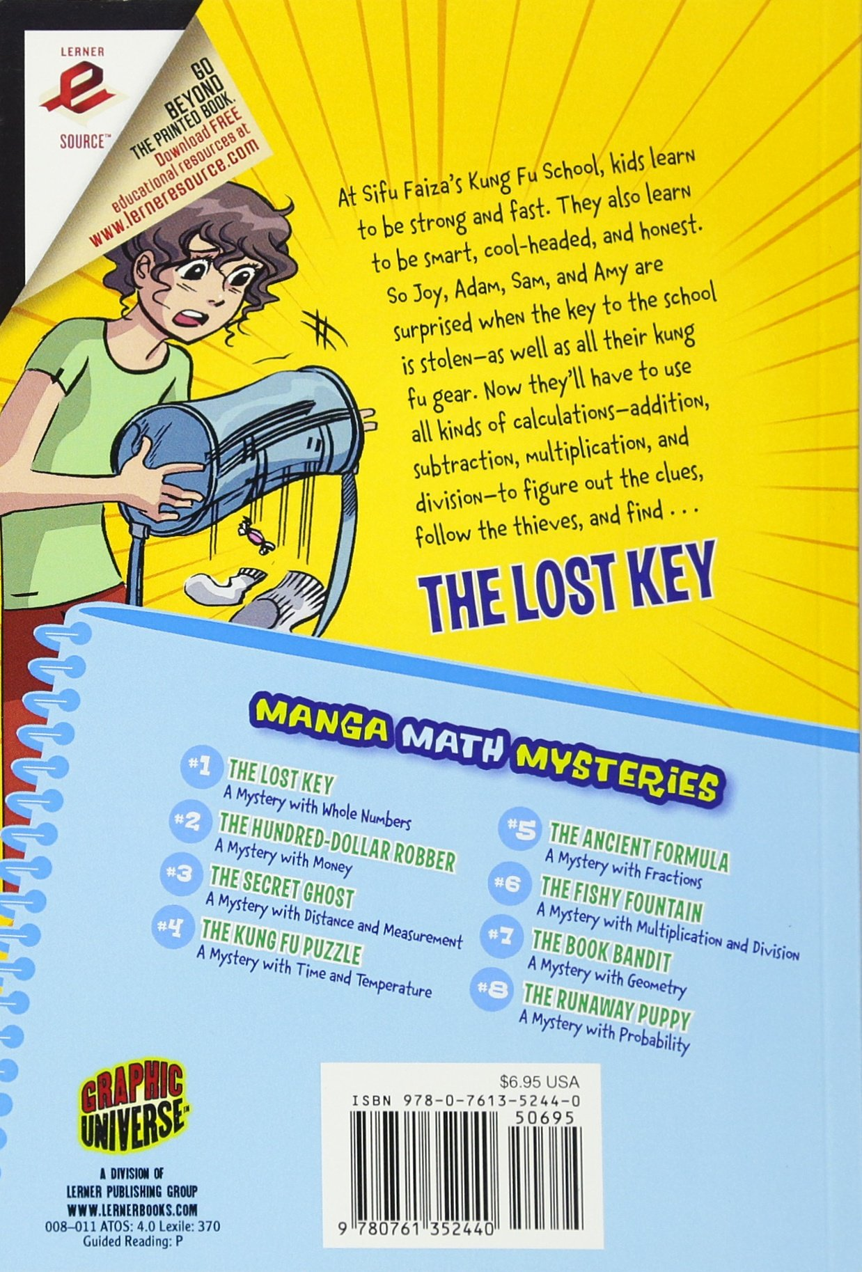 Amazon.com: The Lost Key: A Mystery with Whole Numbers (Manga Math ...