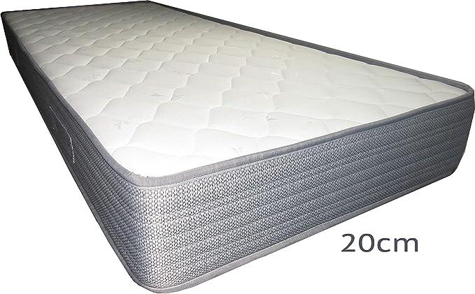 SARDAMATERASSI- Kit de colchón y somier de 1 plaza y media ...