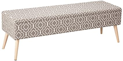 Otto Ben 52 Inch Storage Ottoman Bench With Easy Lift Top