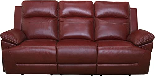 New Classic Furniture Cortez Upholstery Recliner Sofa, Manual, Red
