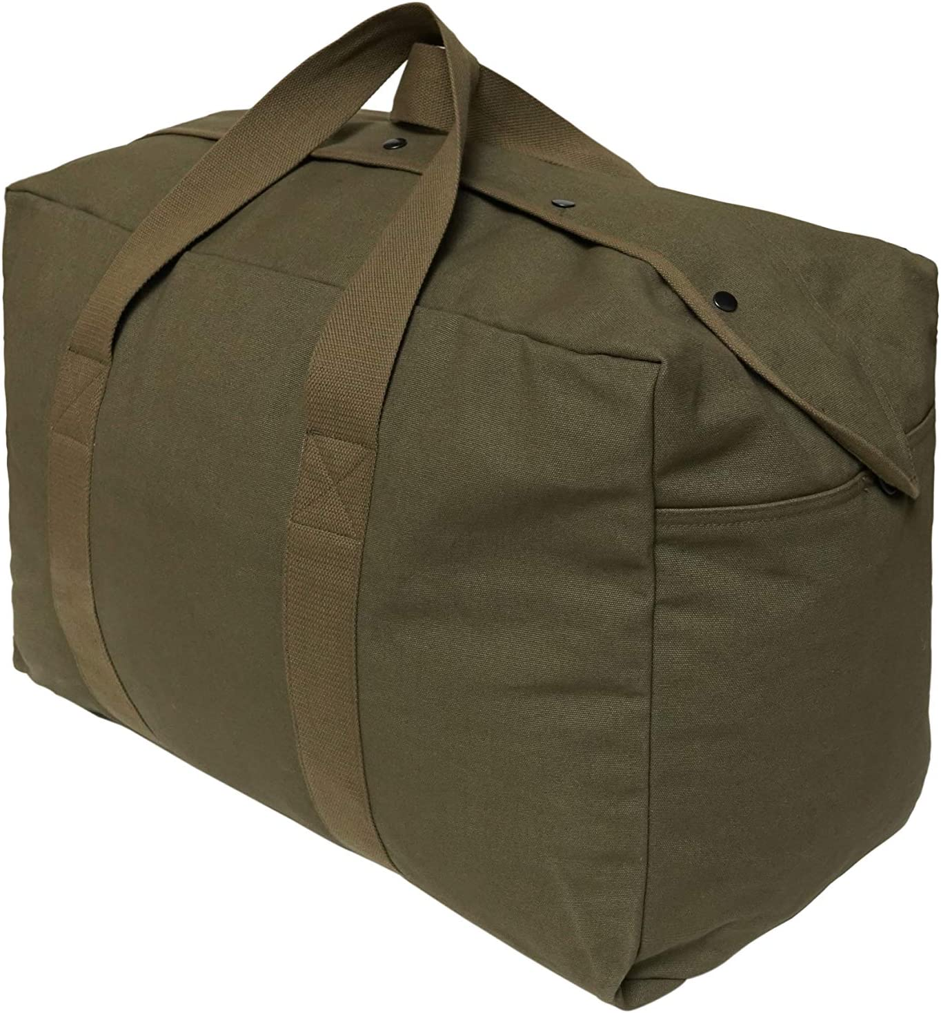 Military Inspired Canvas Cargo Army Duffle Top Load Bag with Snap-Closure Storm Flap Multipurpose Canvas Top Load Bag WHITEDUCK Hoplite Heavy Duty Canvas Duffel Bag Extra Large Canvas Duffle Bag