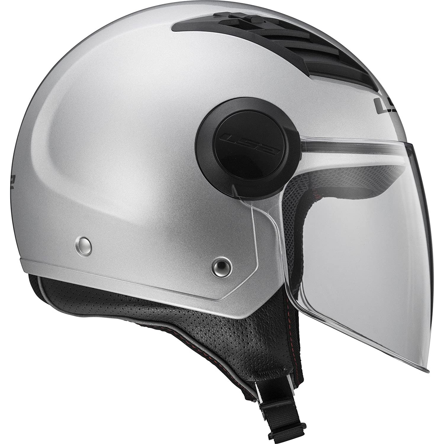 Amazon.es: LS2 Of562 Airflow - Casco para moto, Gloss Silver Long, talla L.