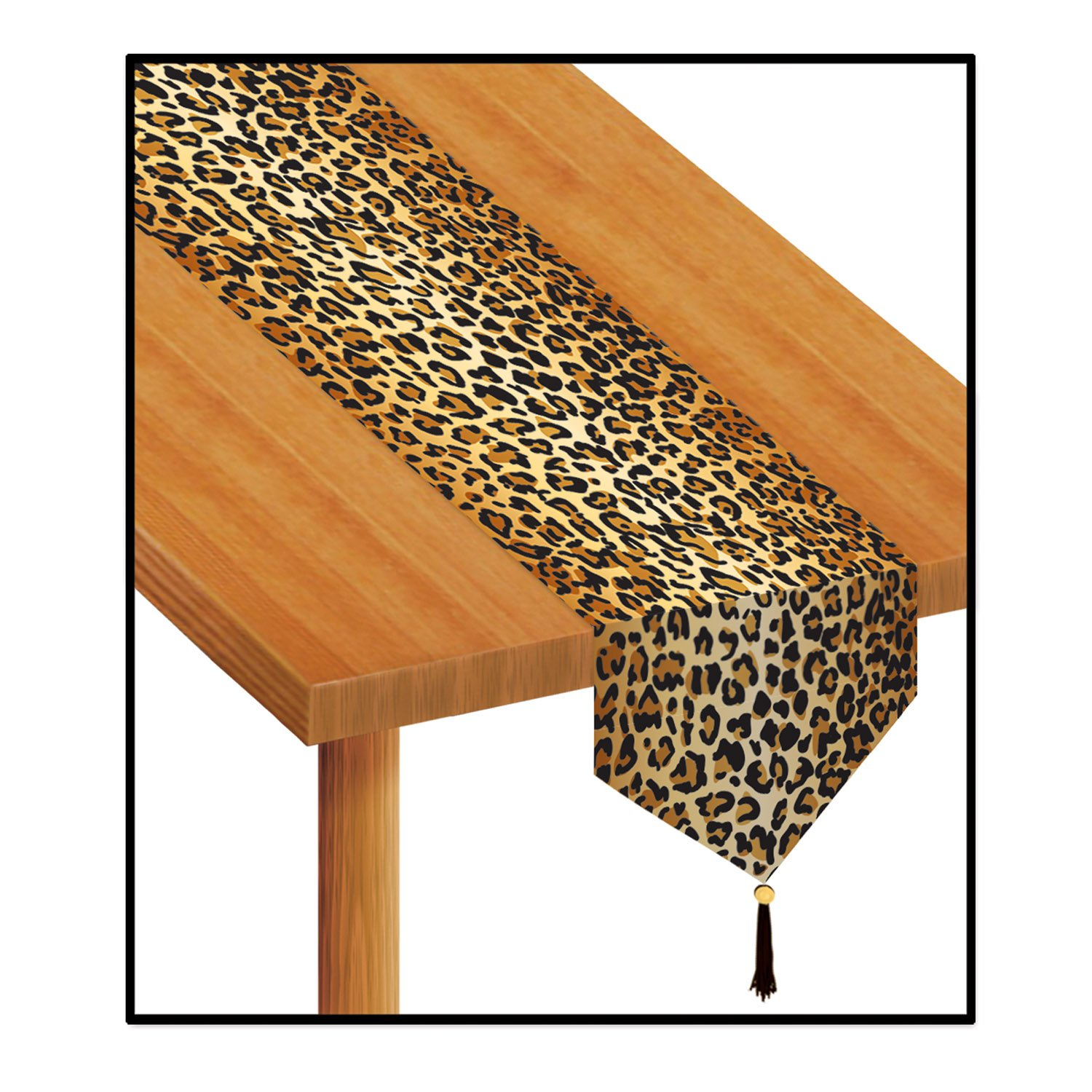 Amazon.com: Beistle 57848 Printed Leopard Print Table Runner, 11 Inch By  6 Feet: Party Decorations: Kitchen U0026 Dining