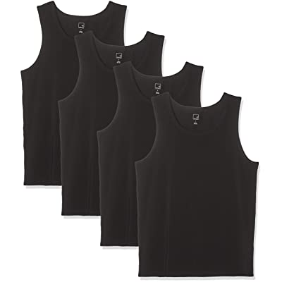Brand - Meraki Men's Cotton Tank Top, Pack of 4: Clothing