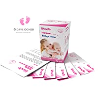 Wondfo 25 Pack (10mIU) Early Result Pregnancy HCG Urine Test Strips. 25 HCG Tests 10mIU