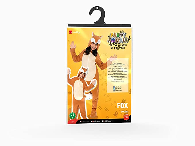 Amazon.com: Smiffys Childrens Unisex All in One Fox Costume: Toys & Games