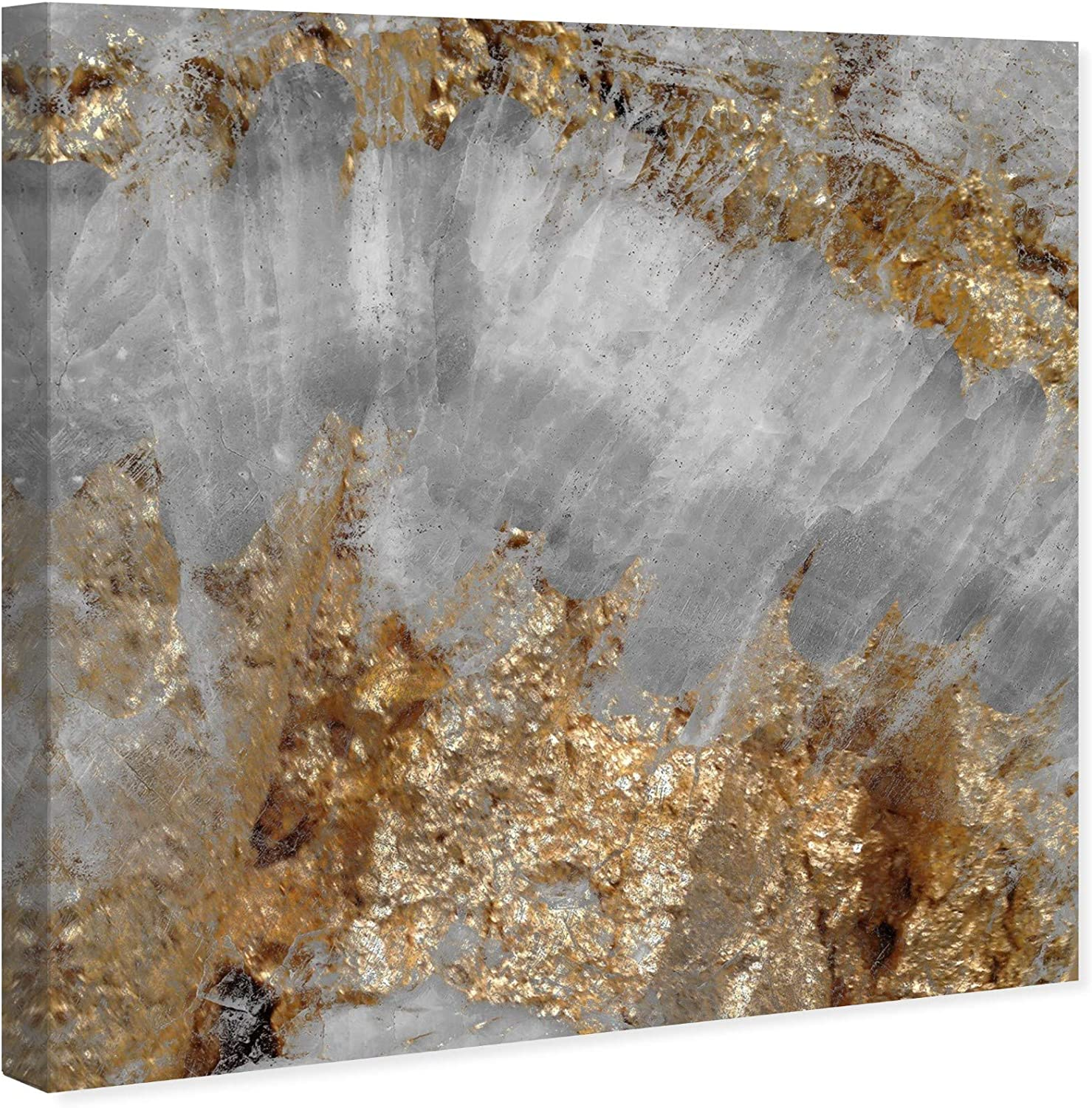 Amazon Com The Oliver Gal Artist Co Abstract Wall Art Canvas Prints Adore Home Décor 12 X 12 Gray Gold Home Kitchen