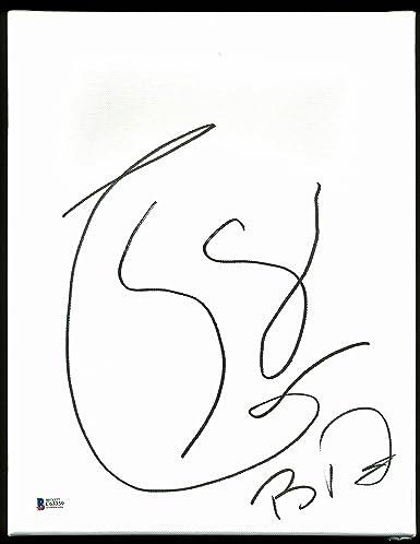 Boyd Tinsley Dave Matthews Band Signed 11x14 Symbol Canvas Sketch