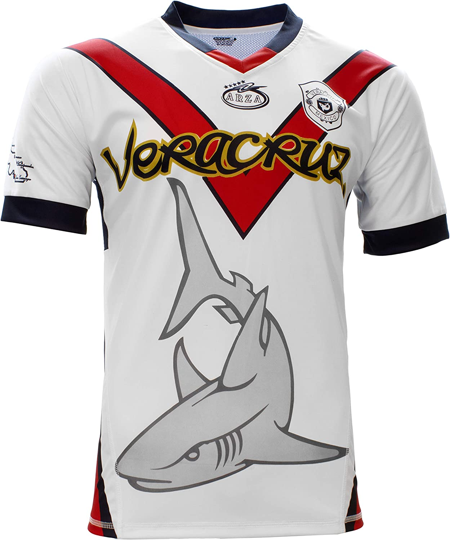 Veracruz Tiburones Arza Designe Soccer Jersey Color White