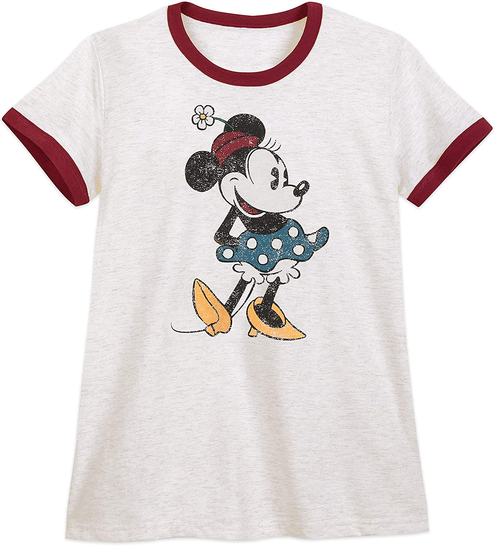 Junk Food Minnie Mouse Stars Women/'s T-Shirt