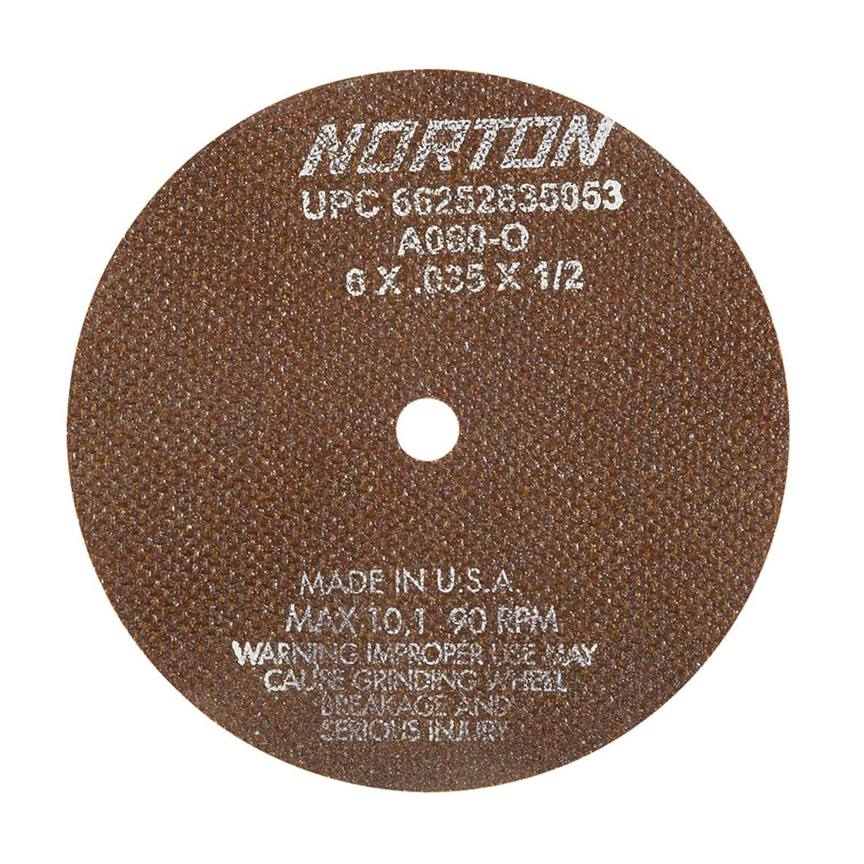NEW Norton 10 inch 60 Grit Aluminum Oxide Reinforced Cutoff Wheels A60-OBNA2 5