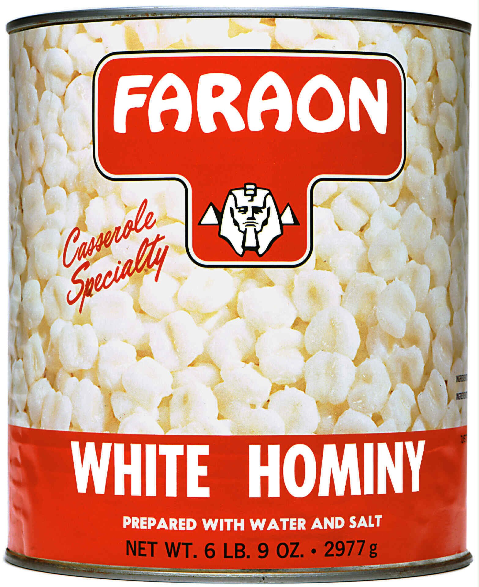 FARAON Hominy White, 105 Ounce (Pack of 6)