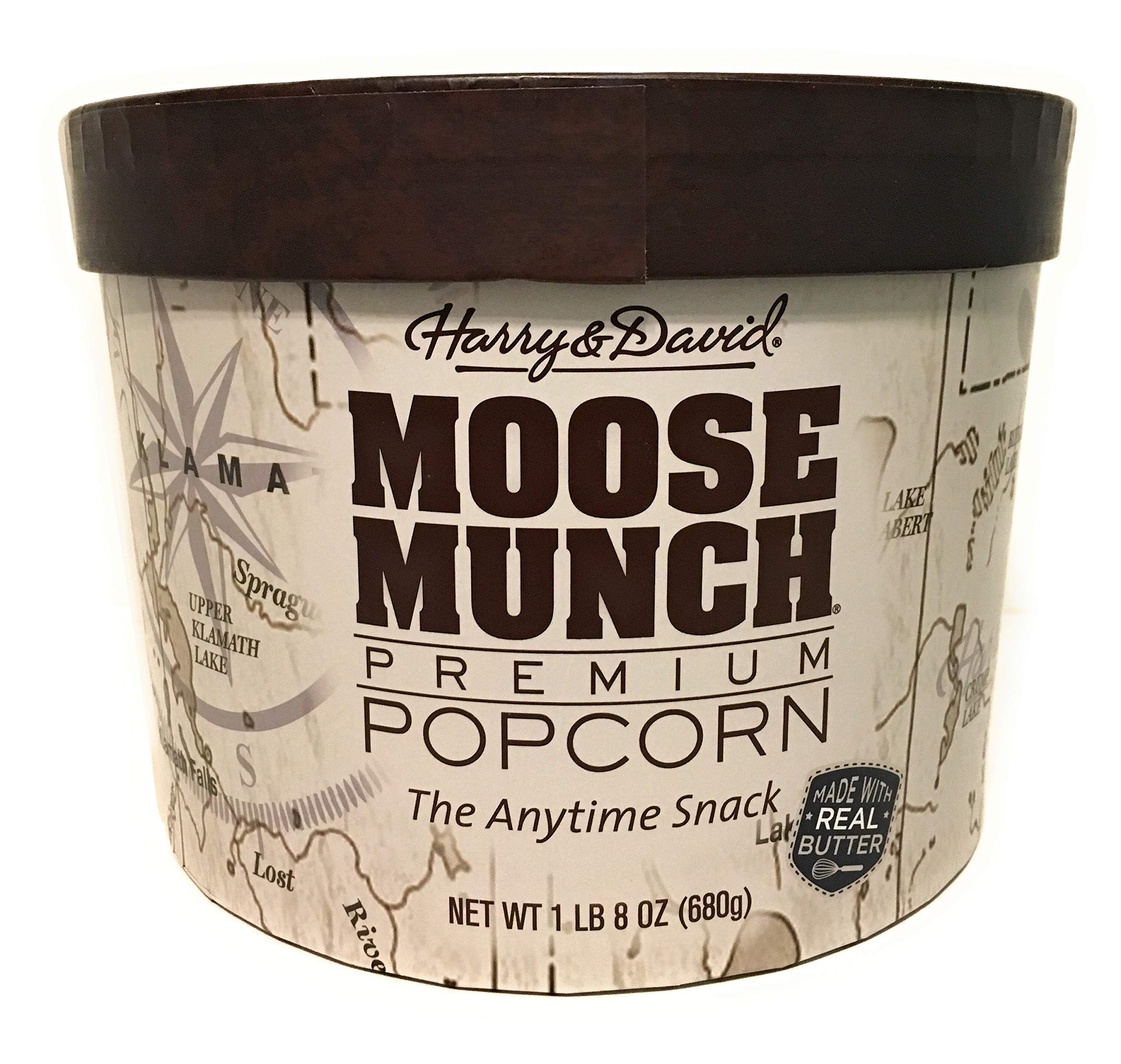Harry & David Moose Munch Gourmet Popcorn 1lb 8 Oz Assortment Drum by Harry & David