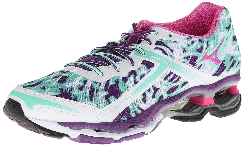 Mizuno Women's Wave Creation 15 Running Shoe B00EP0B6TA 11 B(M) US|White/Electric