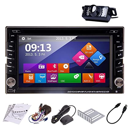 Ouku In-Dash Double-DIN Car Dvd Player with Touch: Amazon.in ... on