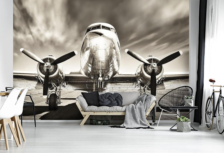 DekoShop Fototapete Vlies Tapete Moderne Moderne Moderne Wanddeko Wandtapete Flugzeug AMD11728VEXXL VEXXL (312cm. x 219cm.) Transport B078JV5XWR Wandtattoos & Wandbilder ec5e39