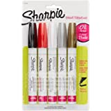 Sharpie Oil-Based Paint Markers, Medium Point, Assorted Colors, 5-Count