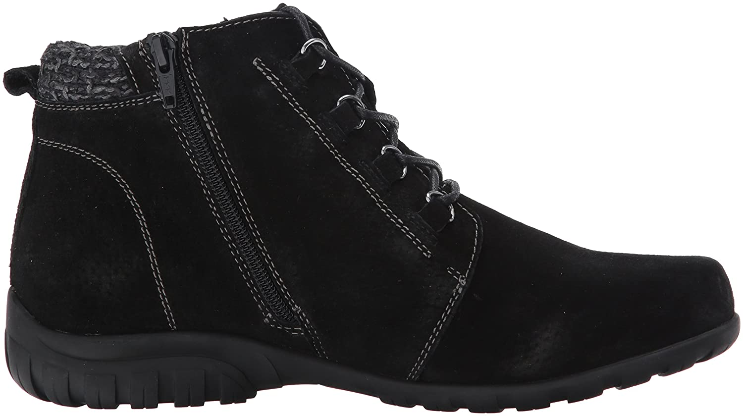 Propet Womens Delaney Ankle Bootie,Black Suede,9 Narrow