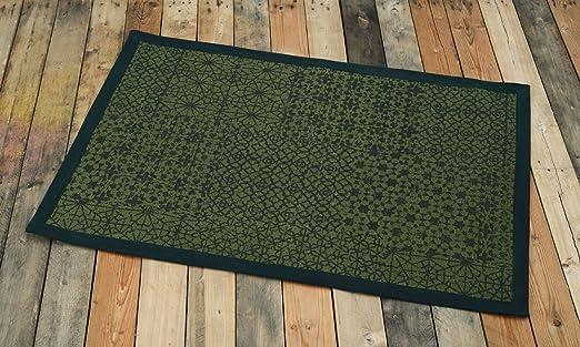 VLiving Alfombra de algodón, Color Verde, Estampado geométrico ...
