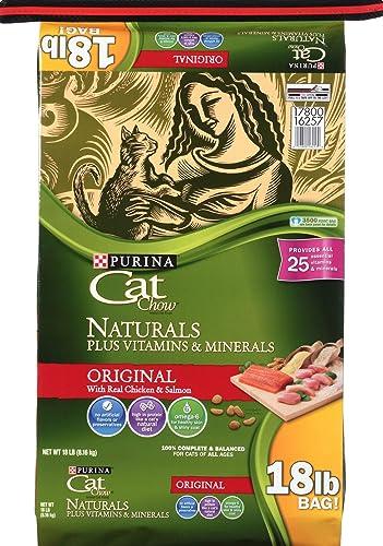 Purina Cat Chow Naturals Original Plus Vitamins Minerals Cat Food 18 lb. Bag