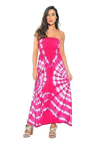 Riviera Sun Strapless Tube Maxi Dress / Summer Dresses