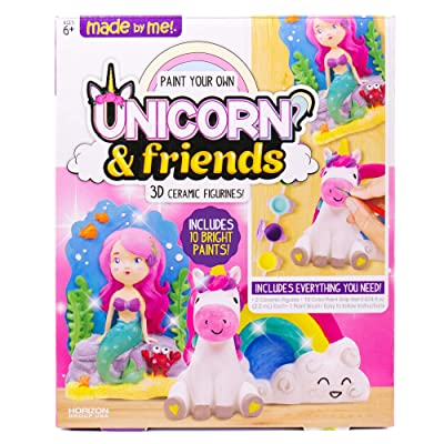 Made By Me Paint Your Own Unicorn Pals, Includes an Easy To Paint Unicorn, Rainbow & More by Horizon Group USA, Multicolored: Toys & Games