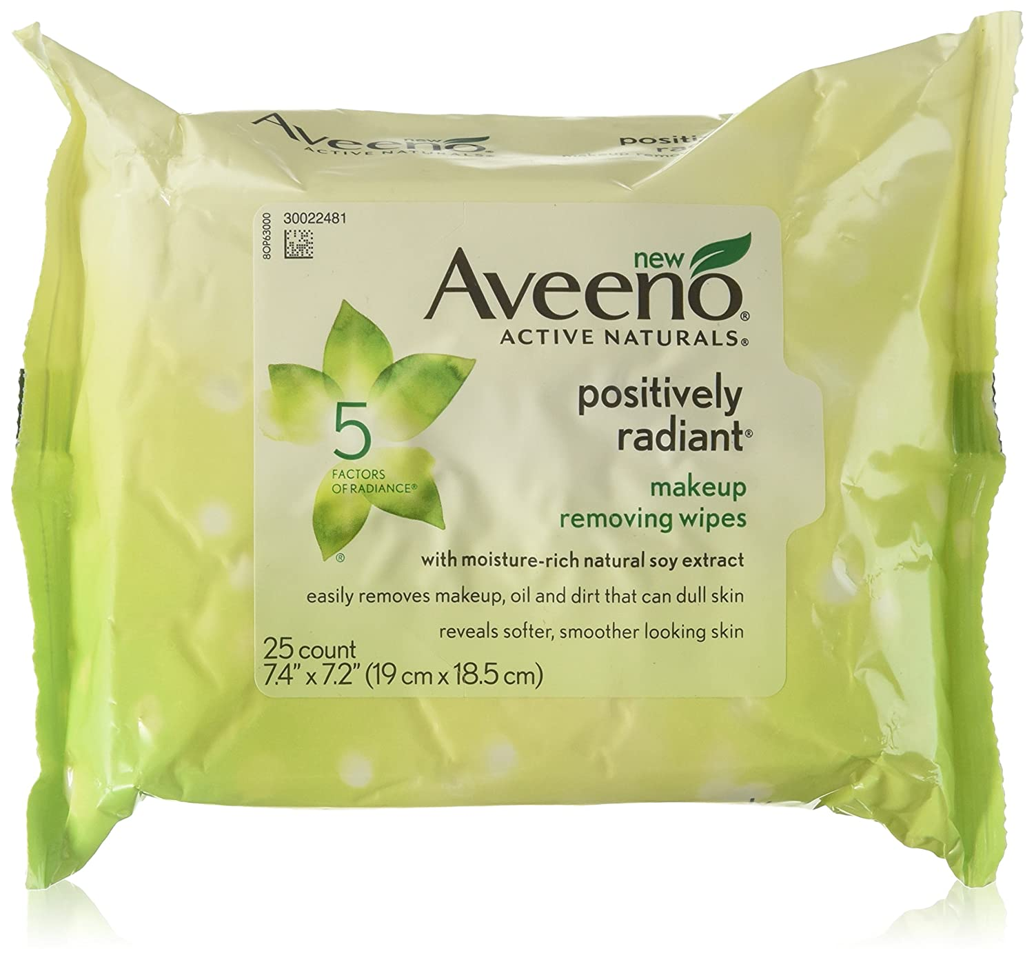 Aveeno Active Naturals Positively Radiant Makeup Removing Wipes 25 Wipes (Pac.