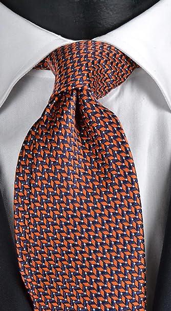schmal Orange 5 cm Herren Klassische Krawatte