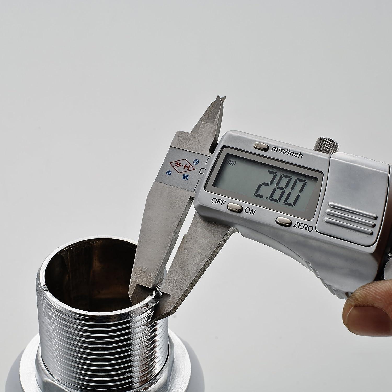 Aralum Robinet de lavabo standard 11//4 avec trop-plein