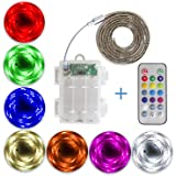 SUMAITEC Waterproof LED RGB Strip Lights with Battery Box, Multi-Color with Remote Control, Battery Powered, Length to…