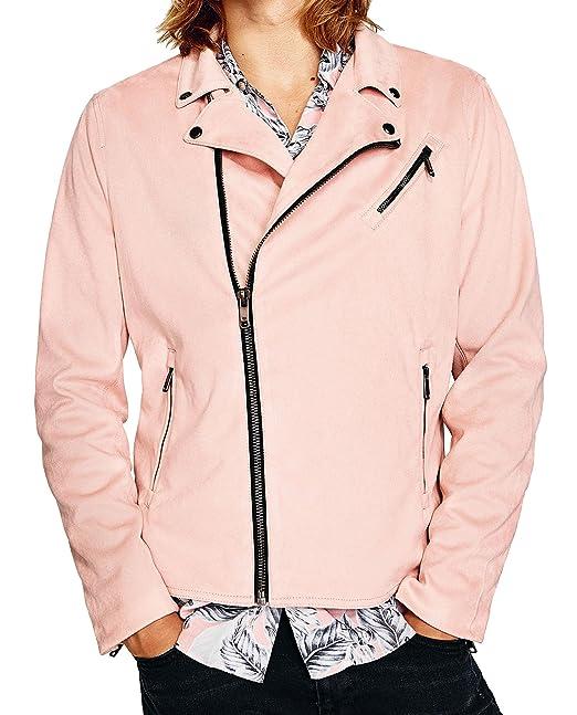 Zara - Chaqueta - para hombre rosa rosa Small: Amazon.es ...