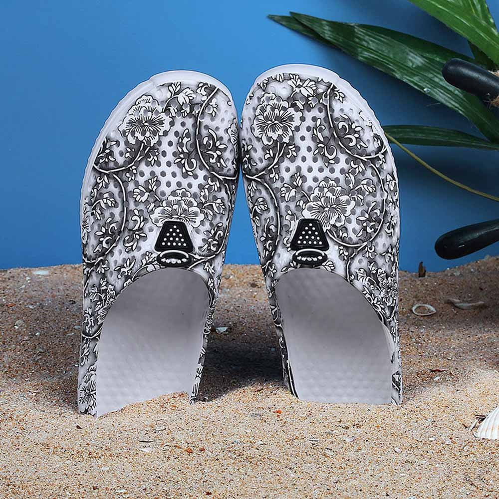 Sunmoot Beach Clog Shoes Slip On Garden Footwear Water Bash Womens Summer Casual Slippers Flip Flops Black by Sunmoot (Image #4)