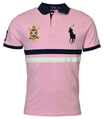 Big Slim Ralph Pony Lauren Mesh Mens Crest Polo Custom Fit 4jLq5AR3