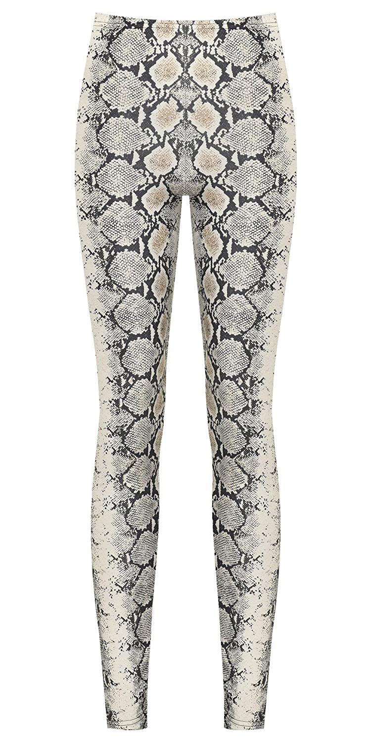 0bf3245f4db4e WearAll Women's Snake Animal Print Stretch Leggings Ladies High Waisted  Jeggings Pants 8-20: Amazon.co.uk: Clothing