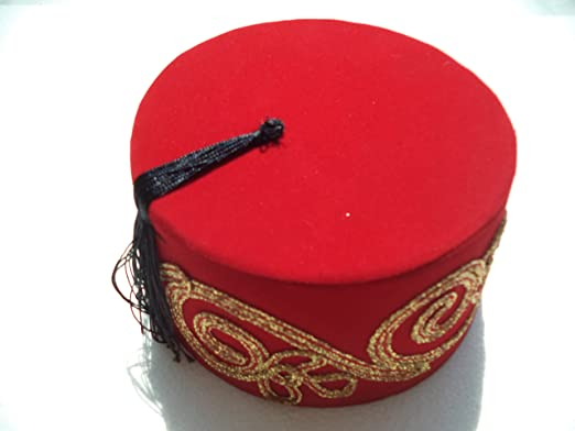 AUTHENTIC TURKISH FES ADULT RED FEZ WITH TASSLE TARBOOSH,OTTOMAN HAT FES
