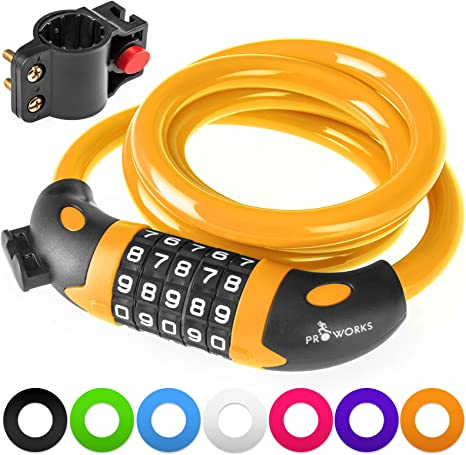 BMX Bike Cycle Cable Combination Lock Helmet Luggage Safety White 5X