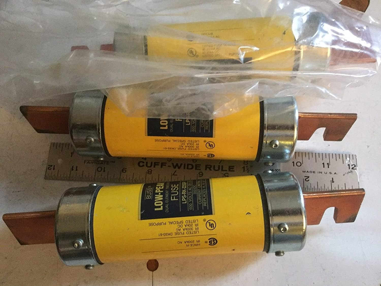 NEW BUSS LPS-RK-225SP BUSSMANNRK1 FUSE 225-AMP LOW-PEAK COOPER 600VAC 300VDC,AA