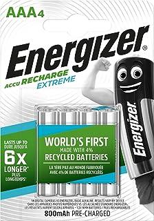 Energizer HR03 - Pack de 4 pilas recargables AAA, color negro: Amazon.es: Electrónica
