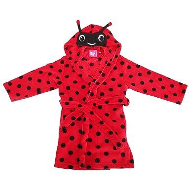 Selena Girl Childrens/Girls Ladybird Print Soft Fleece Dressing Gown ...
